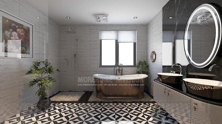 Thiết kế nội thất phòng tăm, nhà vệ sinh biệt thự Imperia Garden