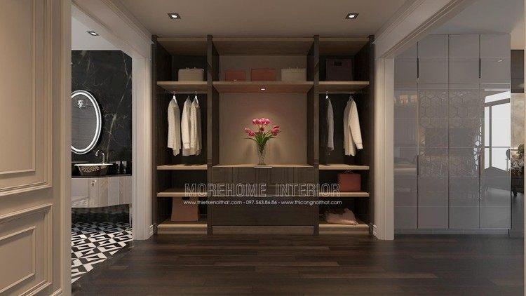 Mẫu tủ quần áo hiện đại biệt thự Imperia Garden