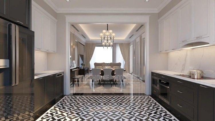Thiết kế nội thất phòng bếp biệt thự Imperia Garden
