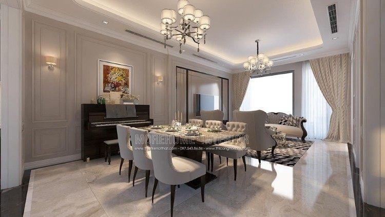 Thiết kế nội thất phòng ăn biệt thự Imperia Garden