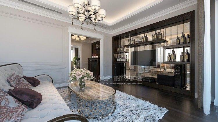 Thiết kế nội thất phòng sinh hoạt chung biệt thự Imperia Garden