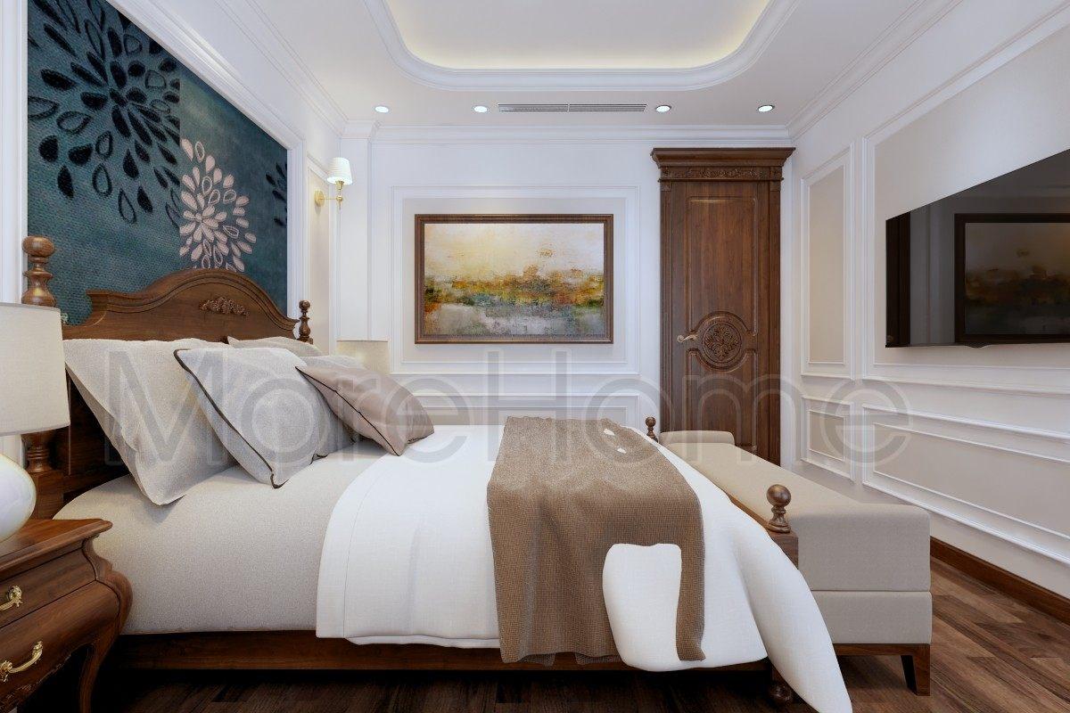 Thiết kế nội thất phòng ngủ biệt thự Lake View Q2