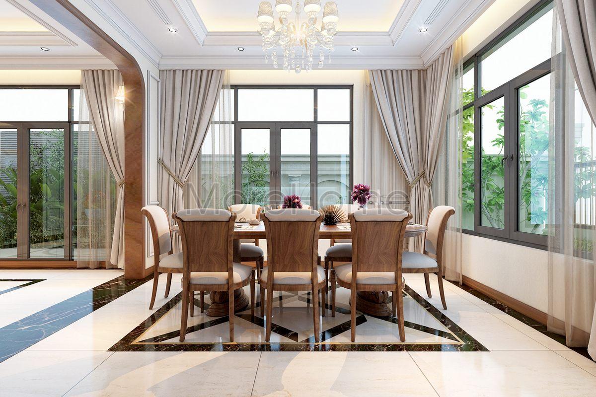 Thiết kế nội thất phòng ăn biệt thự Lake View Q2