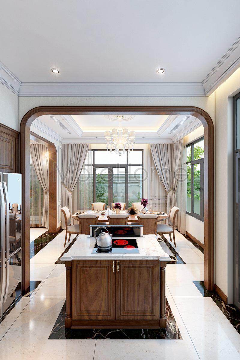 Thiết kế nội thất phòng bếp biệt thự Lake View Q2