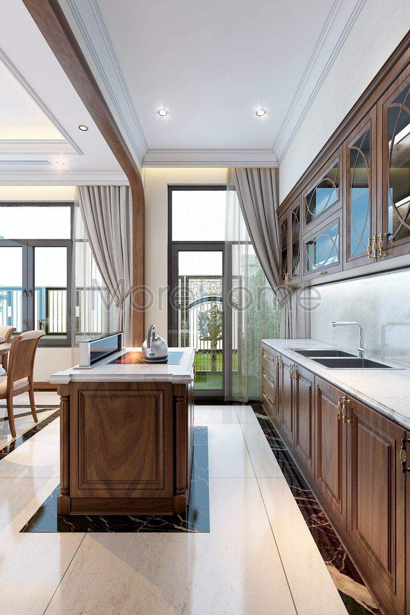 Thiết kế nội thất phòng khách biệt thự Lake View Q2