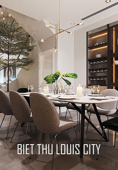 Thiết kế nội thất biệt thự Louis City hiện đại đẹp một cách tinh tế