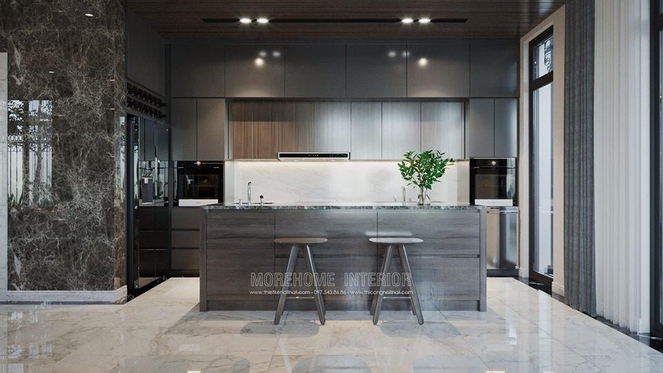 Tủ bếp hiện đại cho biệt thự louis city đại mỗ nam từ liêm hà nội