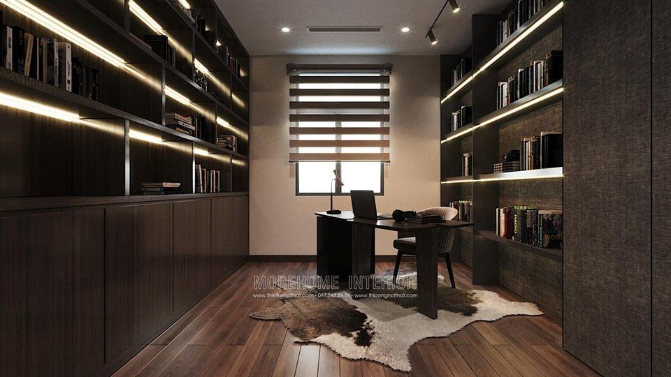Thiết kế phòng làm việc tại biệt thự louis city đại mỗ nam từ liêm hà nội