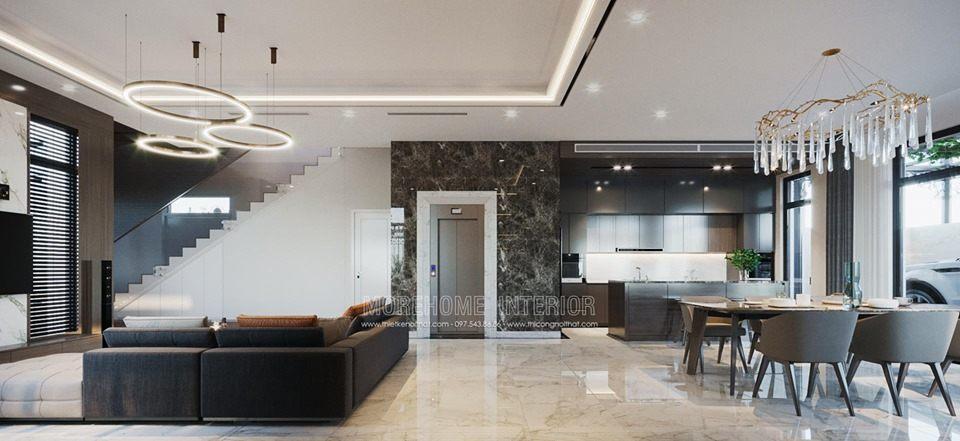 Thiết kế nội thất biệt thự Louis city đại mỗ nam từ liêm hà nội