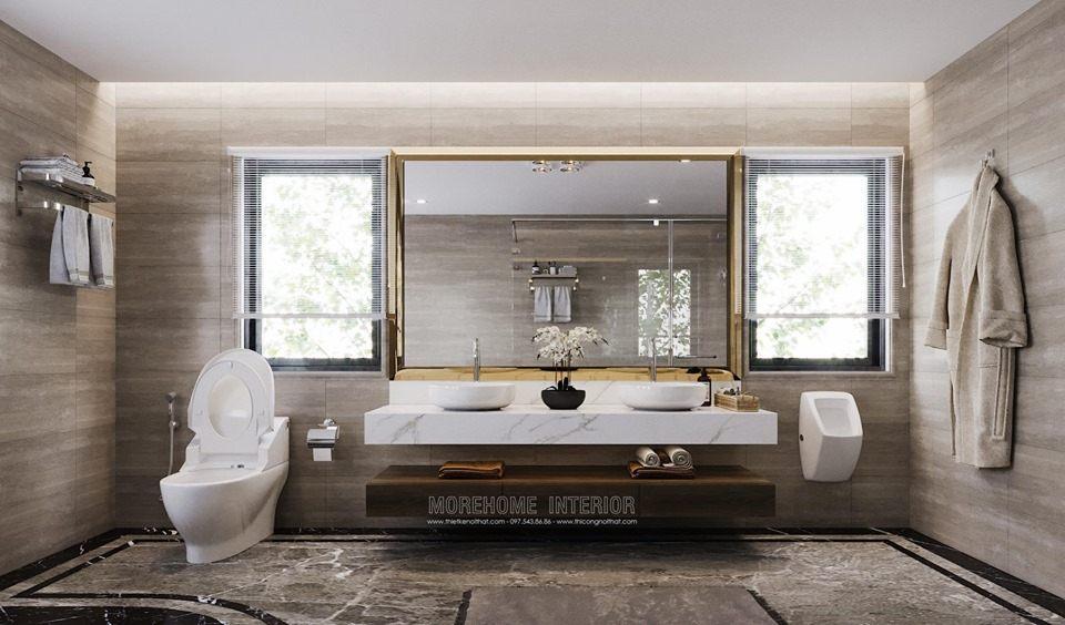 Thiết kế phòng tắm nhà vệ sinh biệt thự hiện đại louis city đại mỗ