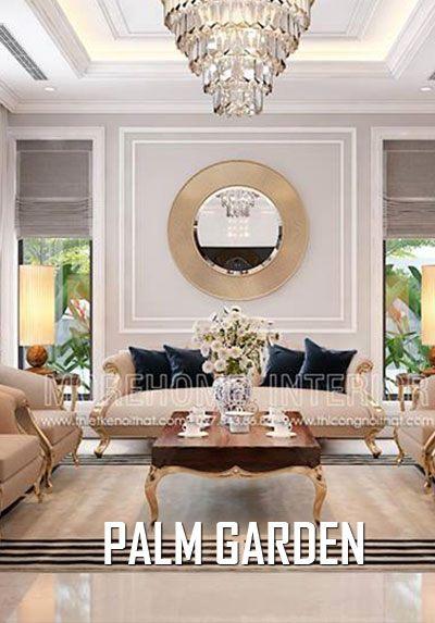 Thiết kế nội thất biệt thự Palm Garden nội thất tân cổ điển sang trọng