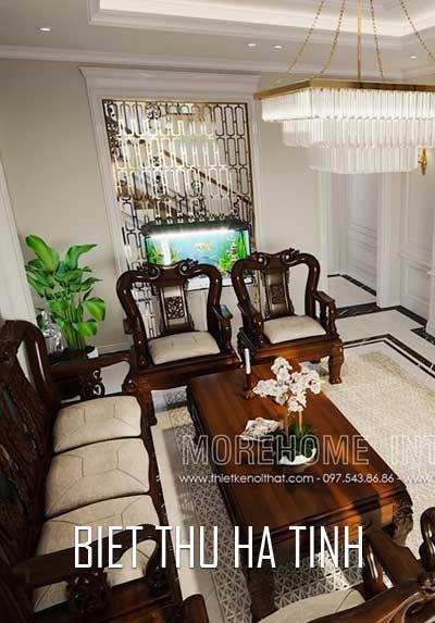 Thiết kế nội thất biệt thự phố tại Hà Tĩnh sang trọng, đẳng cấp