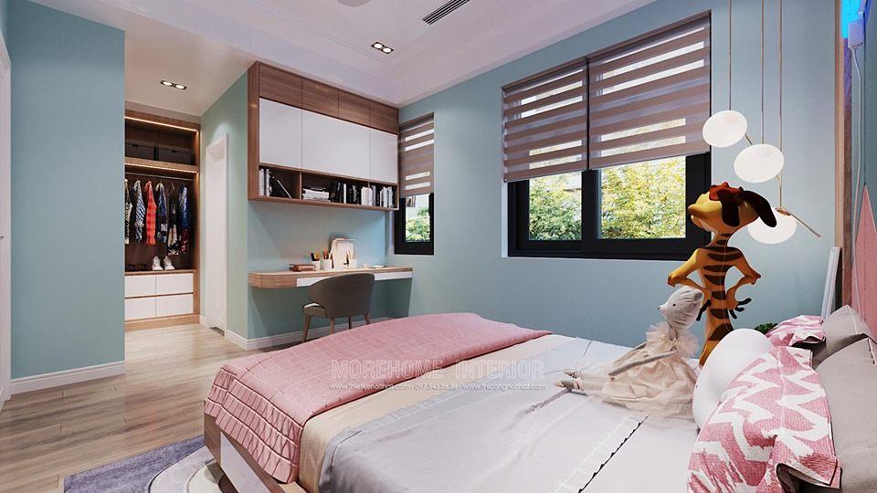 Thiết kế phòng ngủ con gái cho biệt thự starlake tây hồ tây hà nội