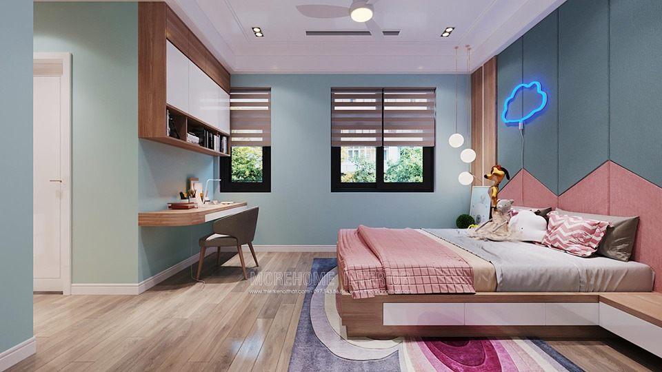 Thiết kế phòng ngủ bé gái biệt thự tây hồ tây hà nội