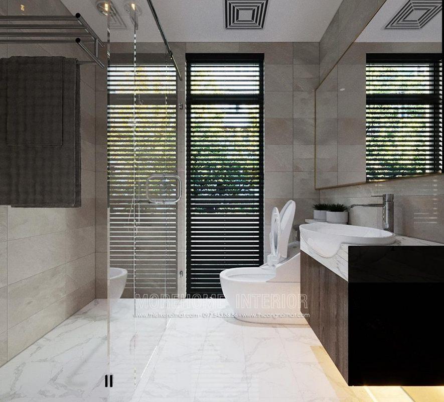 Thiết kế phòng tắm nhà vệ sinh biệt thự starlake tây hồ tây hà nội