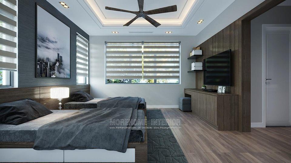 Thiết kế nội thất phòng ngủ biệt thự starlake tây hồ tây hà nội