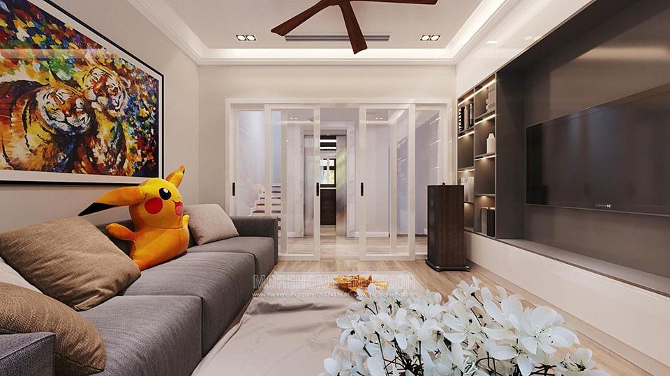 Thiết kế nội thất phòng khách biệt thự starlake tây hồ tây hà nội