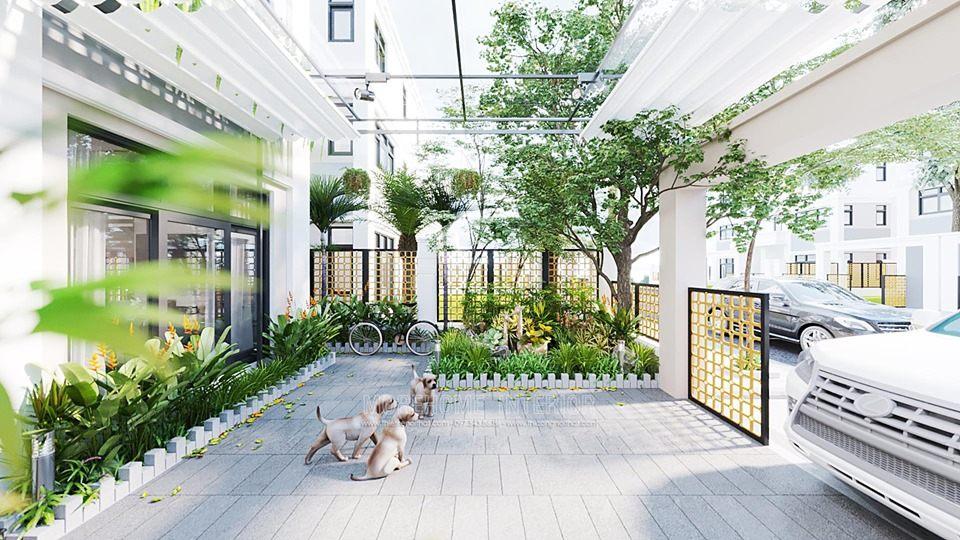 Thiết kế sân vườn biệt thự starlake tây hồ tây