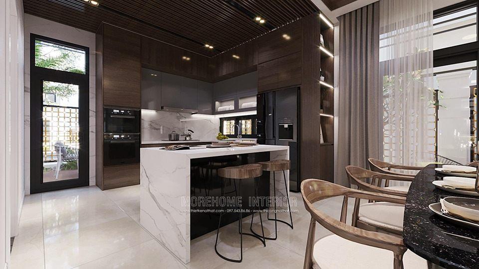 Thiết kế phòng bếp biệt thự tây hồ tây hà nội