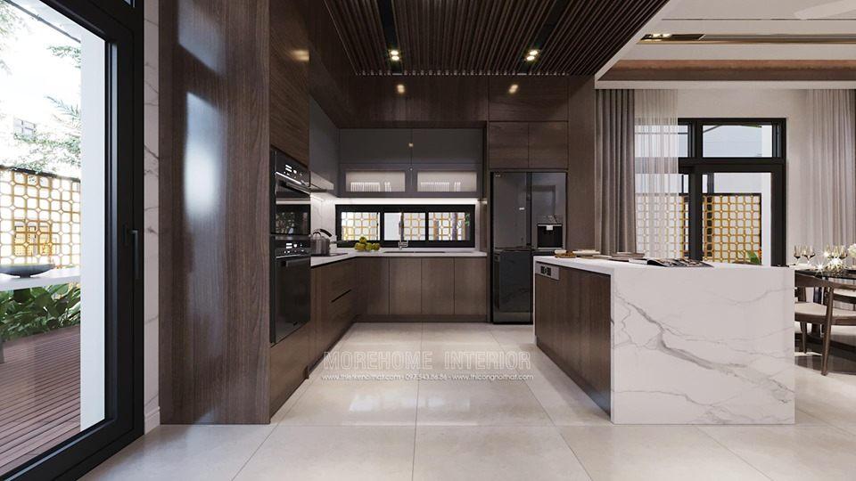 Thiết kế nội thất biệt thự Starlake tây hồ tây hiện đại
