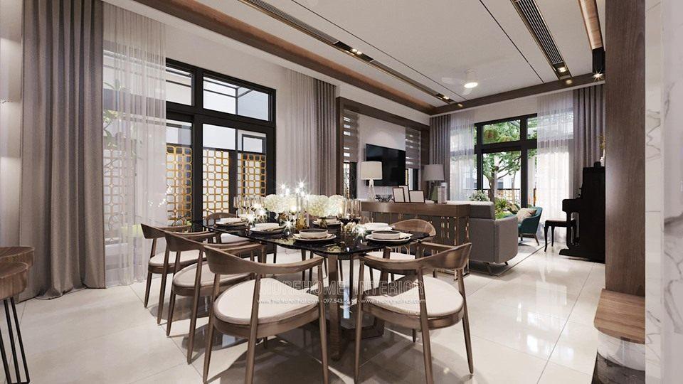 Thiết kế phòng ăn biệt thự starlake tây hồ tây hà nội