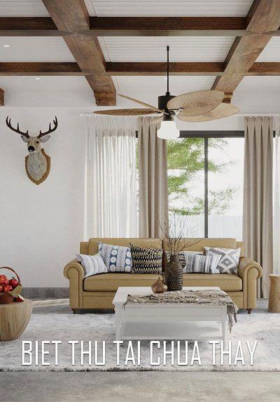 Thiết kế nội thất biệt thự tại chùa Thầy phong cách Địa Trung Hải đẳng cấp