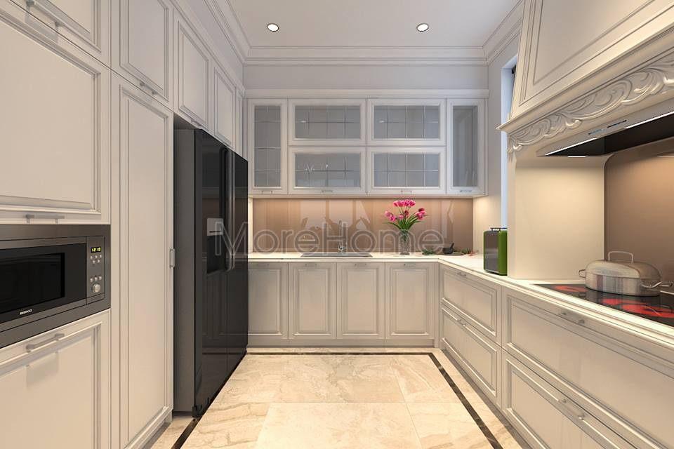 thiết kế phòng bếp biệt thự cao cấp Imperia Garden