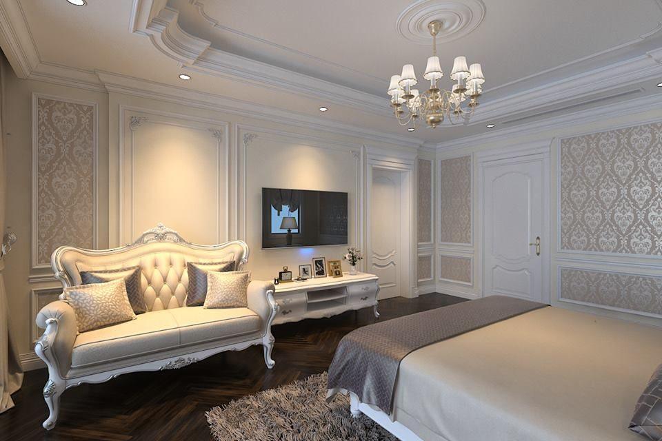 thiết kế phòng ngủ biệt thự cao cấp Imperia Garden
