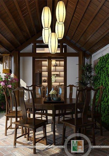 Thiết kế biệt thự phong cách gỗ việt - biệt thự ciputra