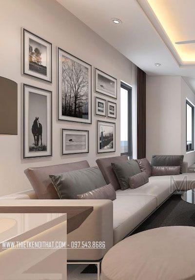 Thiết kế nội thất biệt thự Vinhomes Thăng Long hiện đại - Chị Vân
