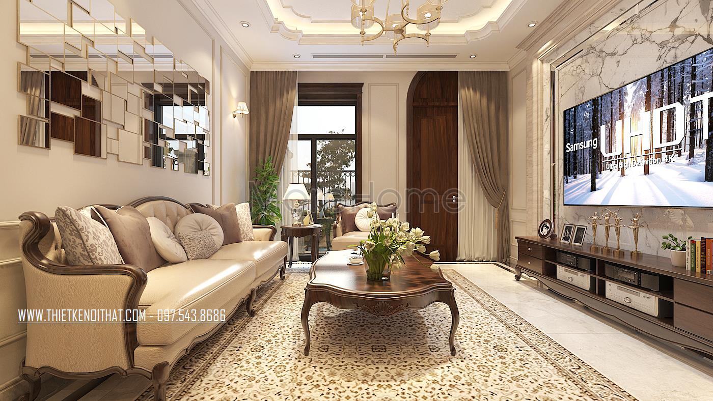 Thiết kế nội thất biệt thự Vinhomes Green Bay