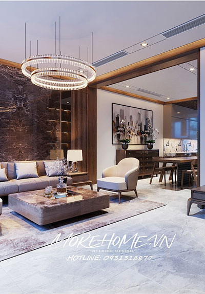 Thiết kế nội thất biệt thự hiện đại Starlake Tây Hồ Hà Nội sang trọng