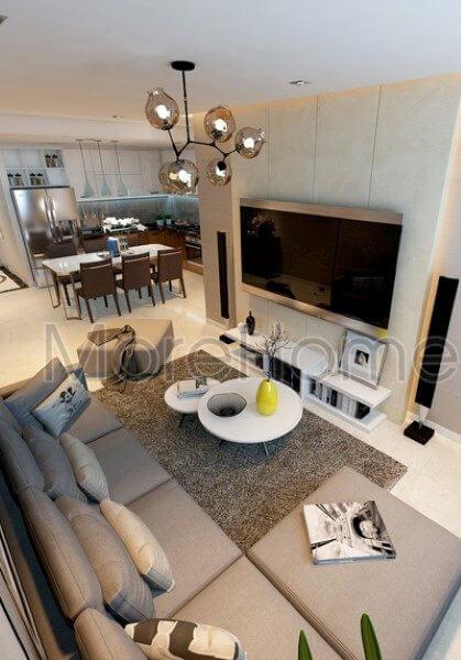 Thiết kế nội thất hiện đại, sang trọng tại căn hộ Lexington Quận 2, Tp. Hồ Chí Minh.