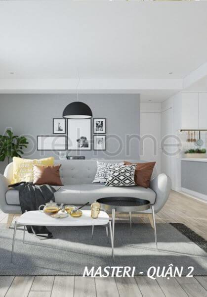 Thiết kế nội thất căn hộ Masteri Quận 2 - Phong cách scandinavian