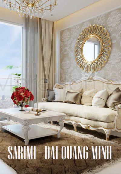 Thiết kế căn hộ chung cư Sarimi - Đại Quang Minh tân cổ điển đẹp