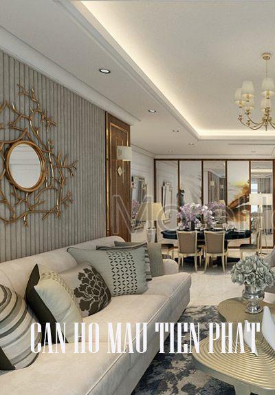 Thiết kế căn hộ mẫu - Dự án Tiến Phát Hồ Chí Minh gỗ tự nhiên
