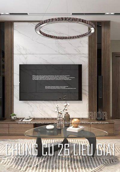 Thiết kế nội thất chung cư 26 Liễu Giai Hà Nội hiện đại đẹp