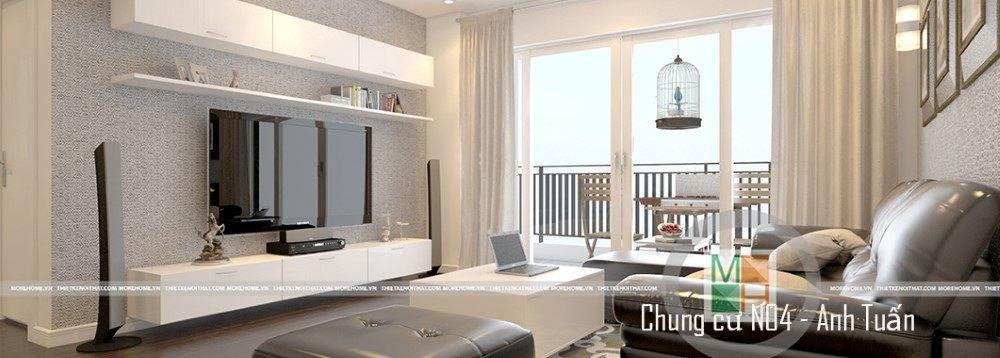 Thiết kế nội thất căn hộ chung cư N04