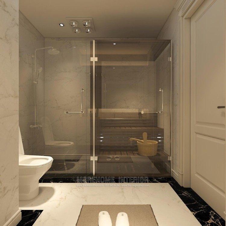 thiết kế nội thất phòng tắm, nhà vệ sinh chung cư  D'capitale