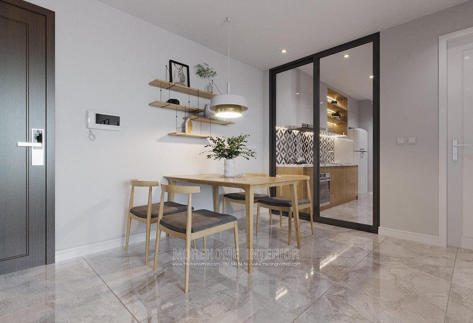 Thiết kế nội thất phòng ăn chung cư D'capitale