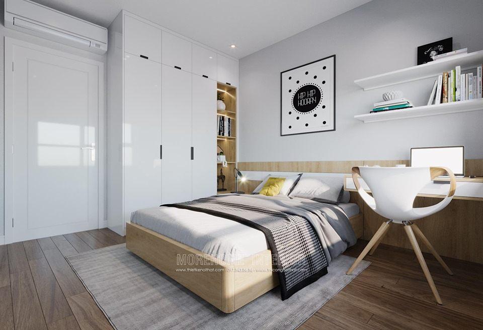 Thiết kế nội thất phòng ngủ chung cư D'capitale hiện đại