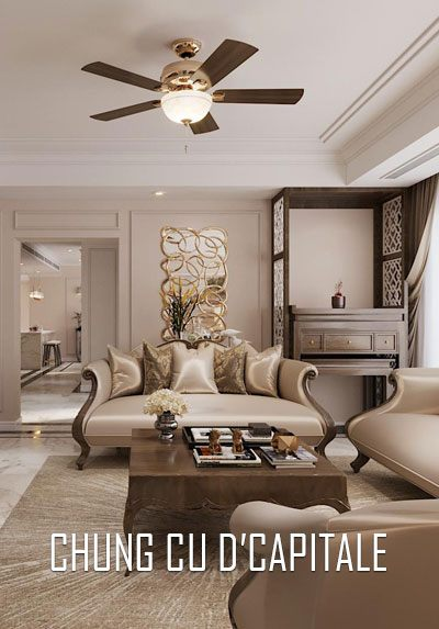 Thiết kế nội thất chung cư D'capitale phong cách tân cổ điển đẹp