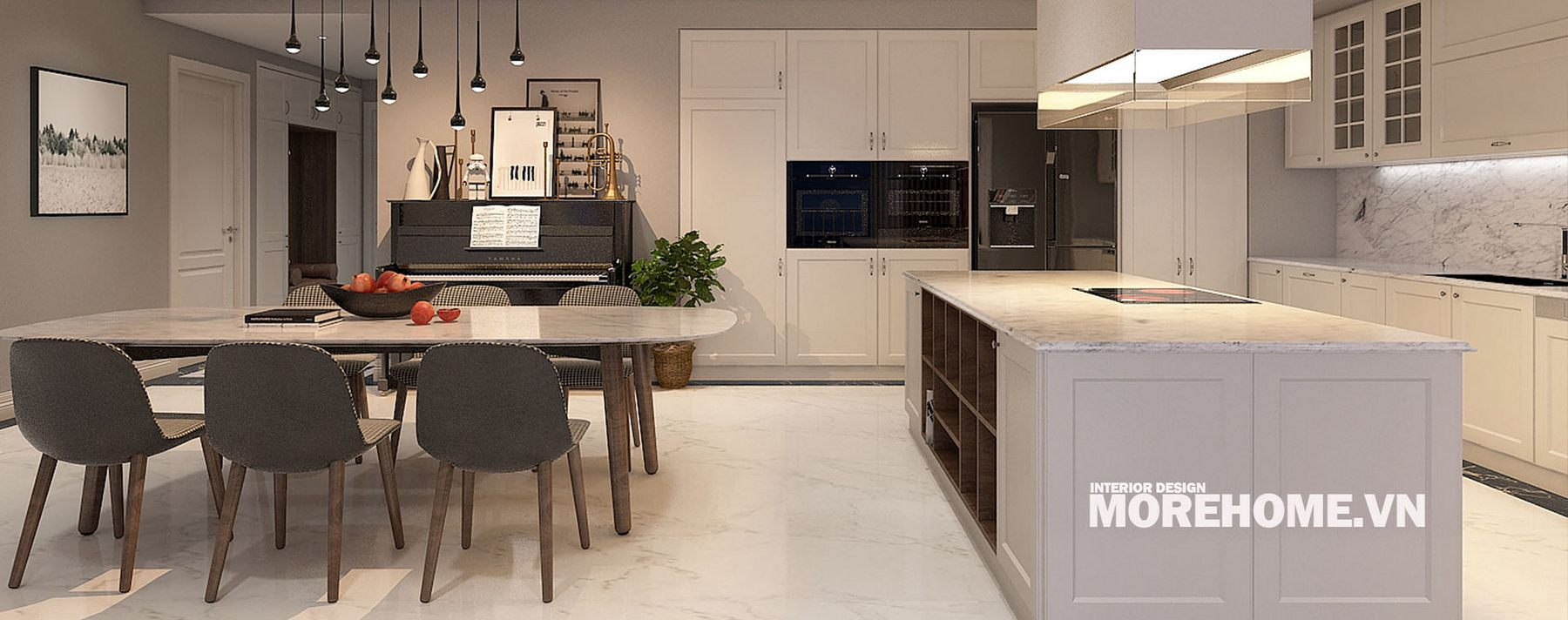 Thiết kế nội thất phòng khách chung cư Keangnam Nam Từ Liêm