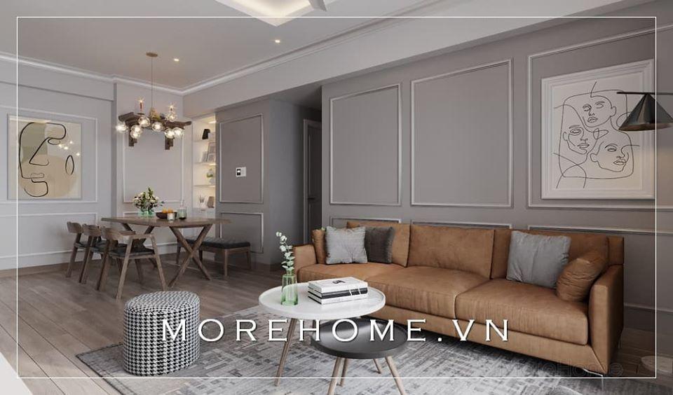Thiết kế nội thất phòng khách chung cư đẹp