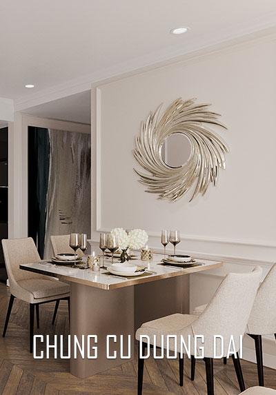 Thiết kế nội thất căn hộ chung cư phong cách đương đại, đẹp, sang trọng