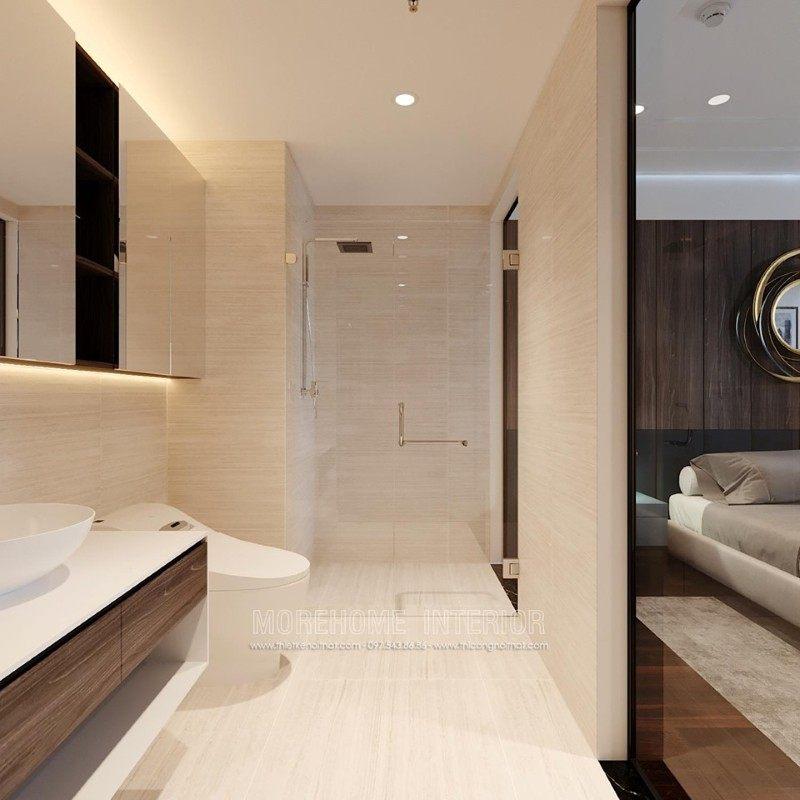 Thiết kế phòng tắm nhà vệ sinh chung cư emerald mỹ đình nam từ liêm hà nội