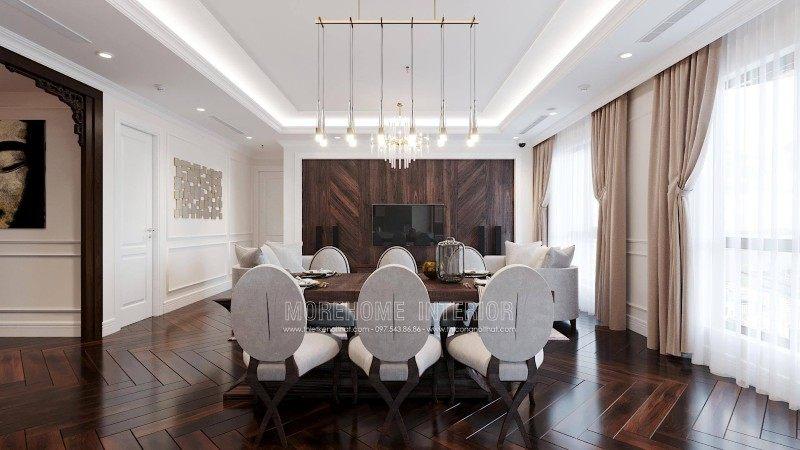 Thiết kế nội thất phòng ăn chung cư emerald mỹ đình hà nội