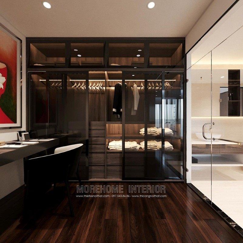 Thiết kế tủ áo hiện đại đẹp cho chung cư emerald mỹ đình nam từ liêm hà nội