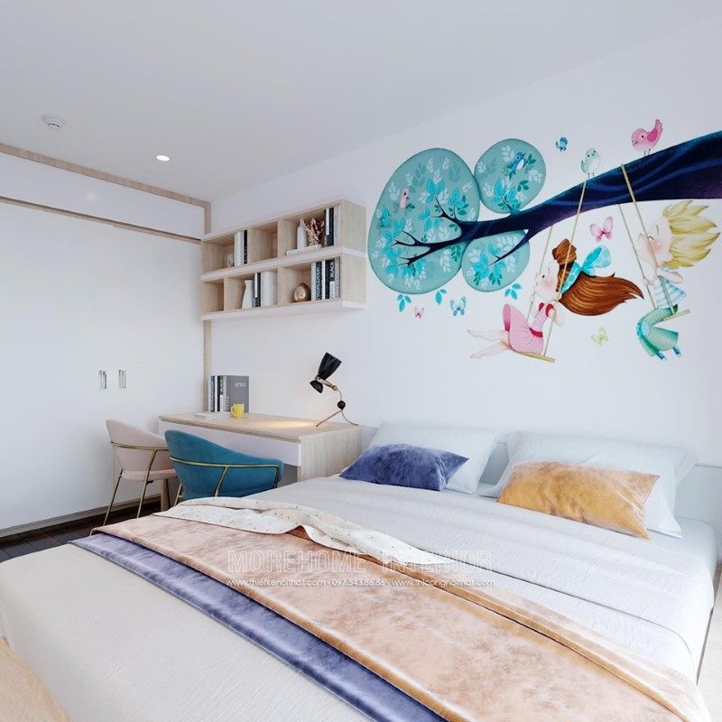 Thiết kế nội thất phòng ngủ trẻ em chung cư emerald mỹ đình nam từ liêm hà nội