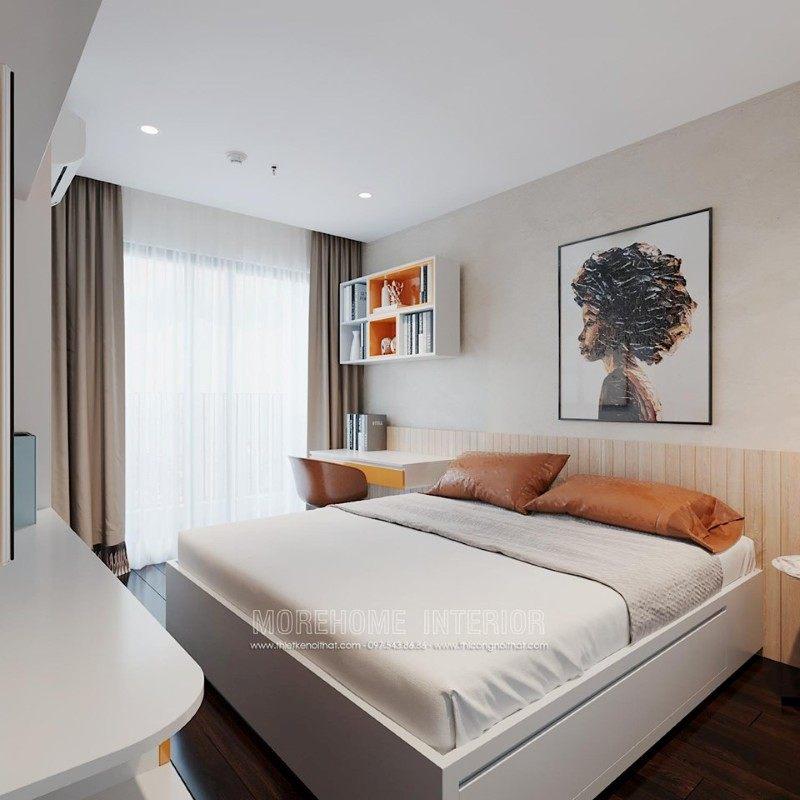 Thiết kế nội thất phòng ngủ chung cư emerald mỹ đình nam từ liêm hà nội